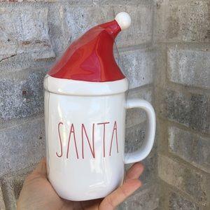 Rae dunn santa mug with topper